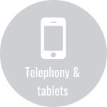 IT infrastructure also includes telephony and tablets